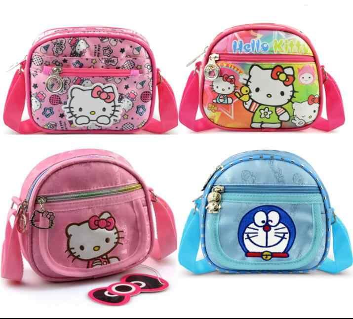 cefa4cb64411 Cartoon Doraemon Bags Hello Kitty Bag Baby Girl Wallet Coin Purse Little  Shoulder Bag Kids Handbags