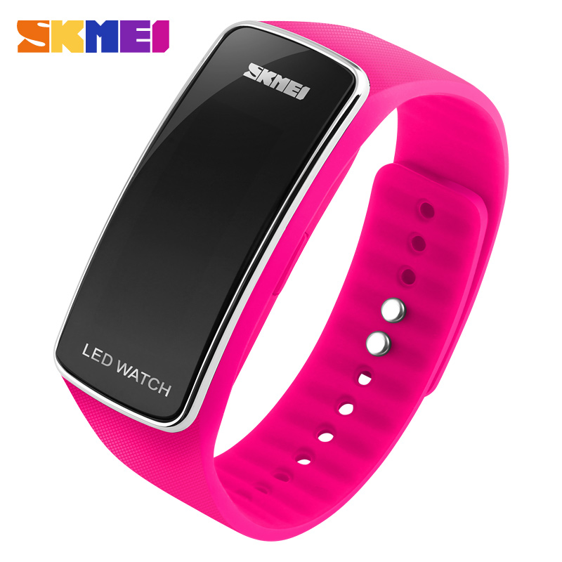 SKMEI Running Sports Watches Women LED Digital Wristwatches Colorful Silicon Strap Complete Calendar Gift For Girl 1119