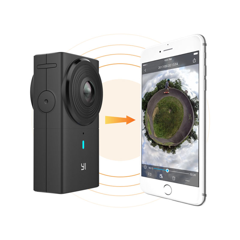 YI 360 VR Camera Dual-Lens 5.7K HI Resolution Panoramic Camera With Electronic Image Stabilization, 4K In-Camera Stitching(China)
