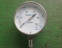 Pressure-proof type micro-pressure gauge YE-75 type bellows pressure gauge water column table without adjustment