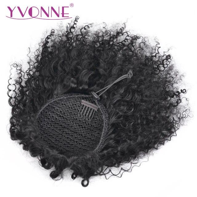 Yvonne бразильские кудрявые вьющиеся конский хвост человеческие волосы клип в наращивание волос remy натуральный цвет 1 шт.