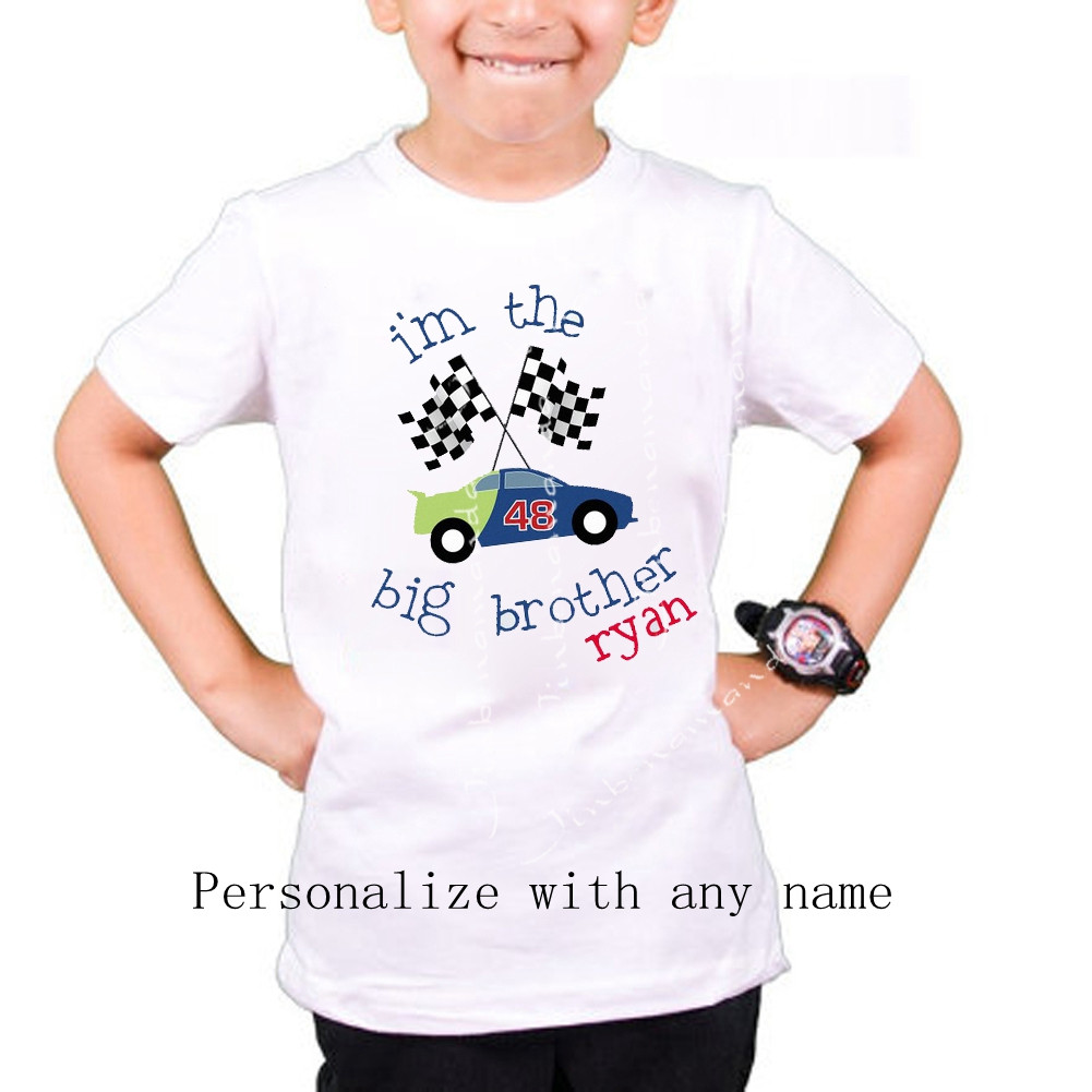 I'm the Big Brother t shirt raglan Race Car such a cute ...