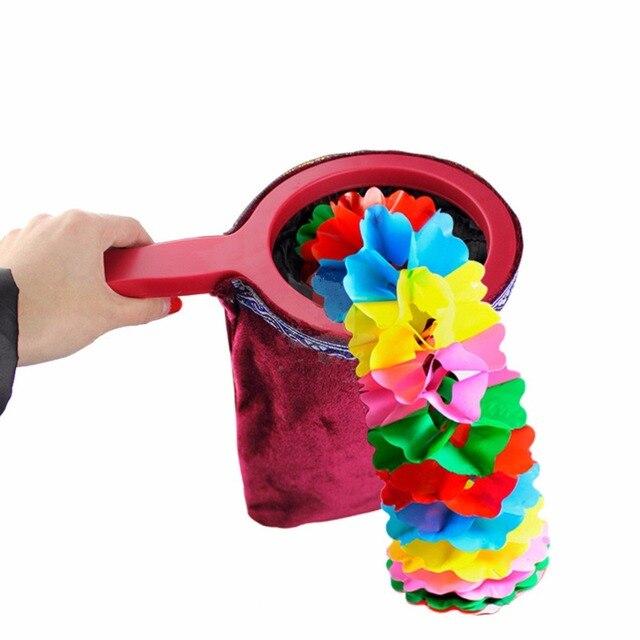 Utilería mágica bolsa de cambio con mango torcido que hace que las cosas parezcan desaparecer truco mágico regalo para niños