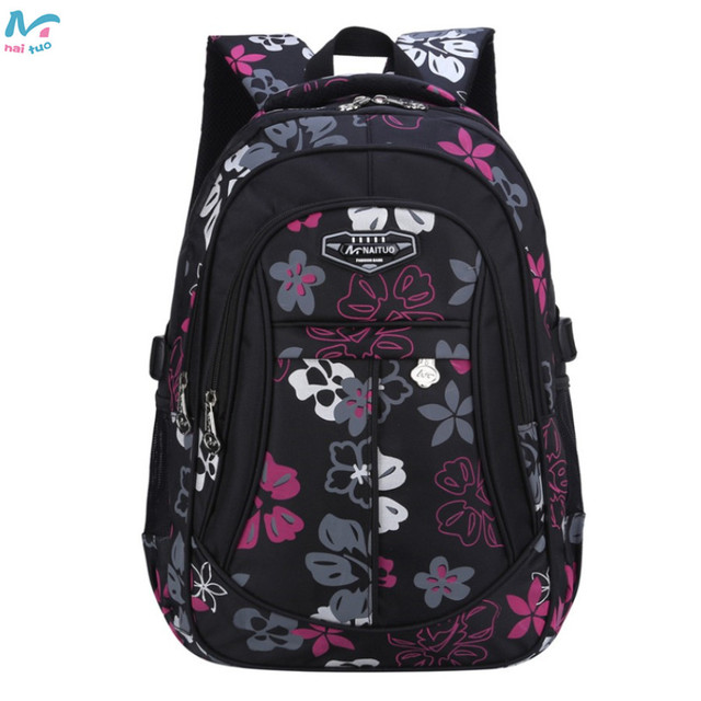 Naituo Floral Printing Waterproof Kids Backpack School Bags For ...