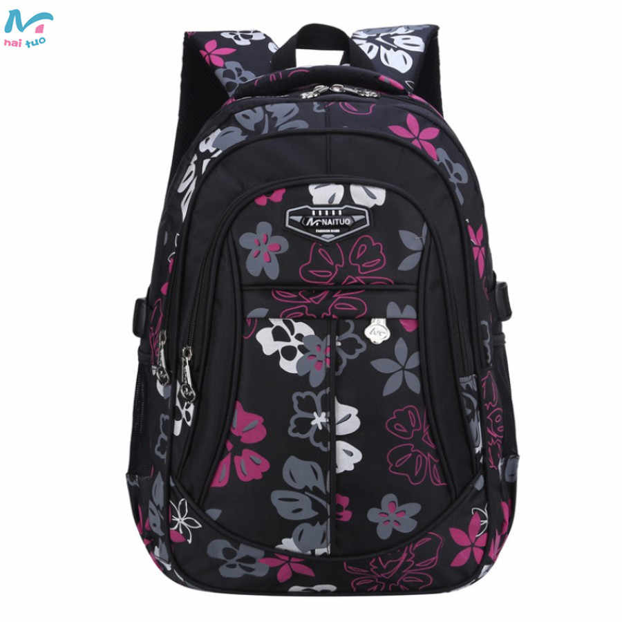ddc14d49fcba Detail Feedback Questions about Naituo Floral Printing Waterproof Kids  Backpack School Bags For Teenager Girls