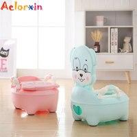 Cartoon Puppy Baby Potty Training Seat Children's Potty Baby Toilet Kids Toilet Trainer Bedpan Portable Urinal Backrest Pot