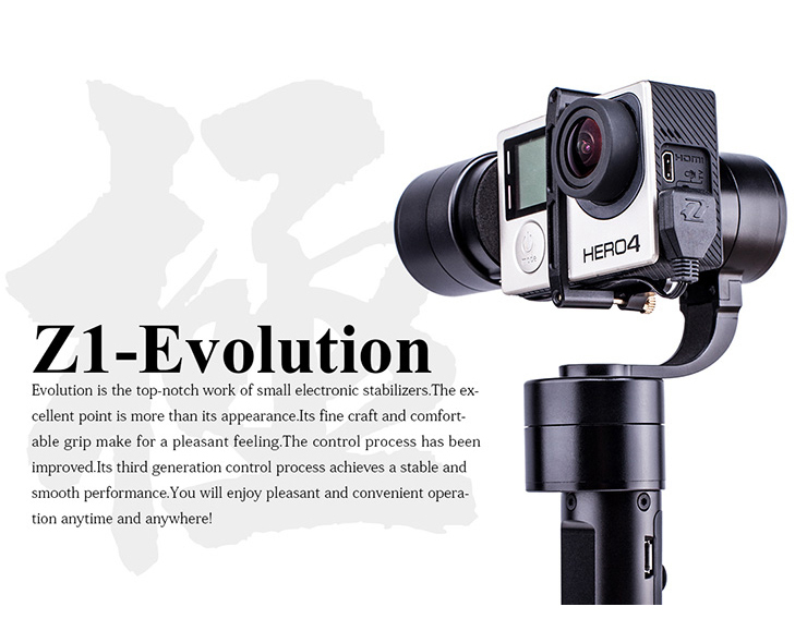 Original Zhiyun Z1-EVOLUTION 3-Axis Handheld Brushless Camera Gimbal suit for Gopro 3 / Gopro 4 Free Shipping