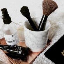 Кисти для макияжа инструмент/Мраморный подстаканник чехол для ванной мраморный подстаканник/Мраморный подсвечник без крышки