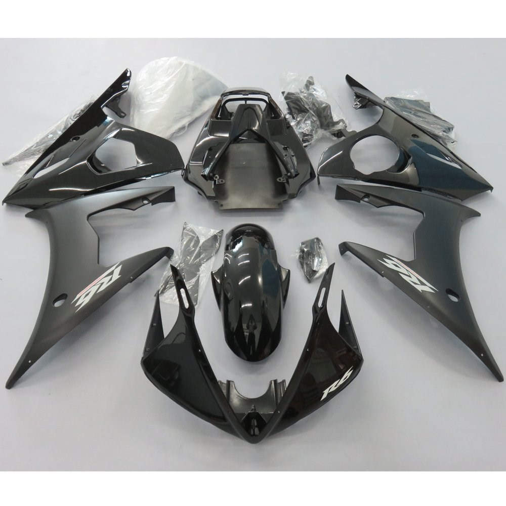 Black Injection Molding Fairing Kit For Yamaha YZF R6 YZF600 YZFR6 2003 2004 YZF-R6 R600 03 04 Motorcycle Fairings Bodywork Case mfs motor motorcycle part front rear brake discs rotor for yamaha yzf r6 2003 2004 2005 yzfr6 03 04 05 gold