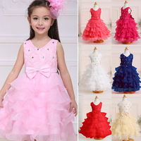 Flower Girl Dress Ball Gowns Kids Dresses For Girls Party Princess Girl Clothes For 3 4