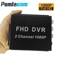 Newest FHD MDVR 2 channel 1080P Full HD mobile DVR 2CH mini AHD DVR support 2pcs 1080p AHD cameras recording/Max. 128GB SD card