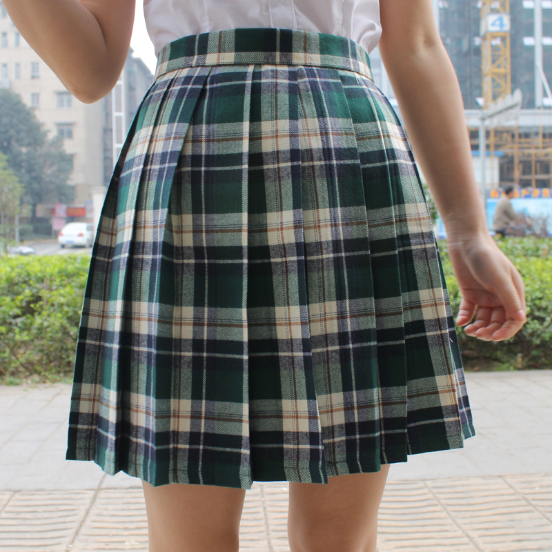 Popular Green Plaid Skirts-Buy Cheap Green Plaid Skirts lots from ...