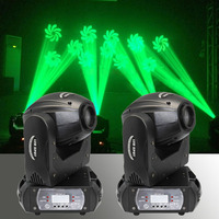 2 pieces Mini 60W LED 11 gobos with 3 facet prism effect moving head light DMX 512 60W moving heads LED Spot DJ Stage Lighting