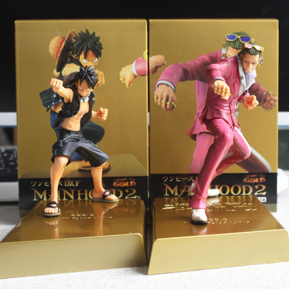 2pcsset Anime One Piece Film Gold Figurine Luffy Vs Gild
