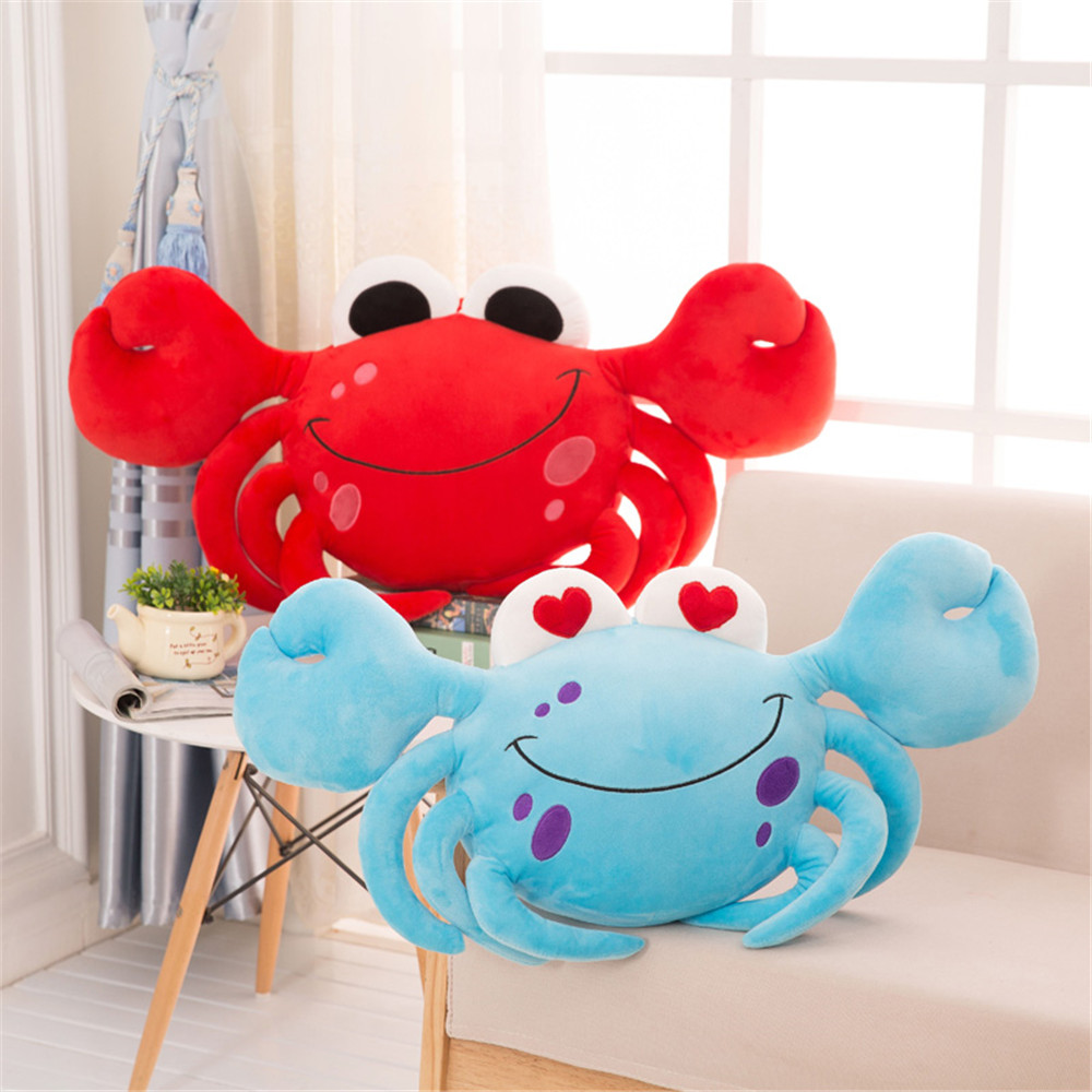 Fancytrader Plush Crab Toys Big Soft Stuffed Animals Crab Pillow Doll for Kids Gifts 80cm fancytrader pop lovely 100cm big soft cartoon corgi plush toy 39inches lying stuffed animal dog pillow kids play doll gift