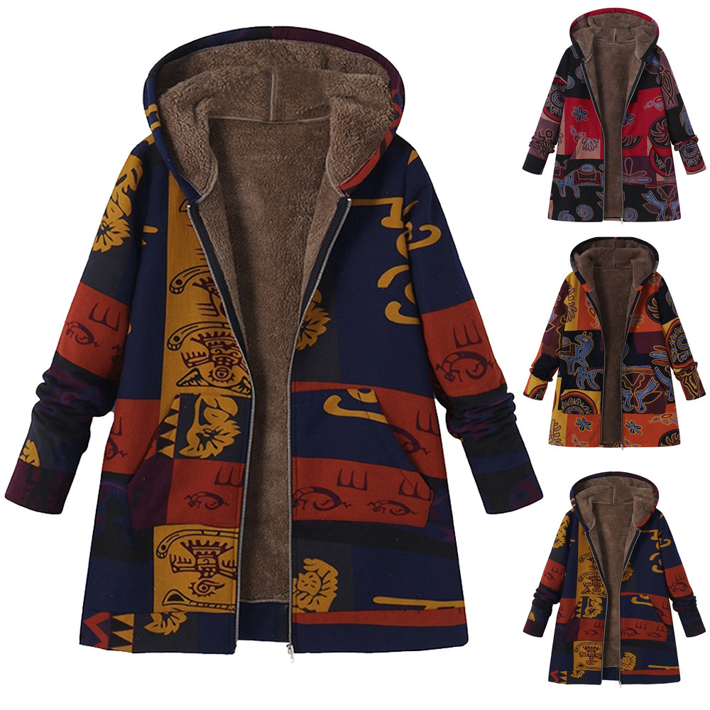Fashion Women Winter Hooded Coat Plus Size Female Thick Autumn Fluffy Fur   Basic     Jacket   Womens Warm Outerwear Overcoat 10Dec 10