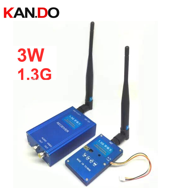 Wall penetrate function 3W 1.3G transceiver for fpv 1.3Ghz CCTV transmitter 1.3G Transmitter Receiver wireless drone transmitter-in Transmission from Consumer Electronics    1