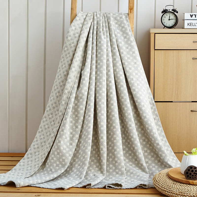 [Doremi] 100% Cotton Washing gauze Towelling Coverlet/Blanket/Throw (Maze Plaid) towel Blankets Bedding set Quilt Sheet Sofa