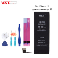WST Brand 1560mAh 3 8V Li Ion Internal Battery Replacement With 11PCS Kit Tool For IPhone