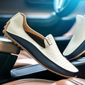 Plus size Men Shoes Casual Summer Flat  good leather Shoes Breathable punching Soft Loafers Man Lightable Moccasins