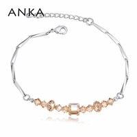ANKA Fashion Simple Geometric Crystal Bracelet Bangle Crystal From Swarovski Jewelry Bracelet For Women Christmas Gift