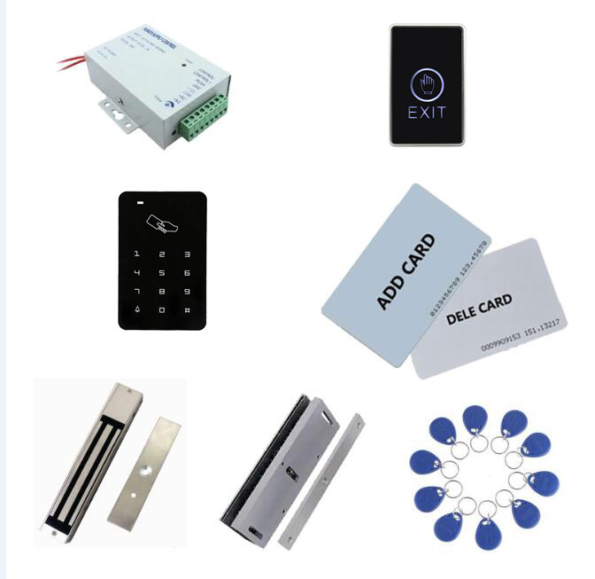 Exit Button+2 Manage Card,10 Keyfob Id Tags,sn:set-7 Agreeable To Taste power+280kg Magnetic Lock+280kg U-shape Qualified Standalone Access Controller Kit