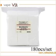180/แพ็คอินทรีย์ผ้าฝ้ายญี่ปุ่นสำหรับDIYบุหรี่อิเล็กทรอนิกส์ขดลวดRDA RBAฉีดน้ำขดลวดตะเกียงขนาดใหญ่ไอVaporizer Accessorise