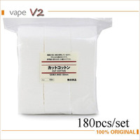 180 Pack Organic Japanese Cotton For DIY Electronic Cigarette Coils RDA RBA Atomizer Coil Wick Huge