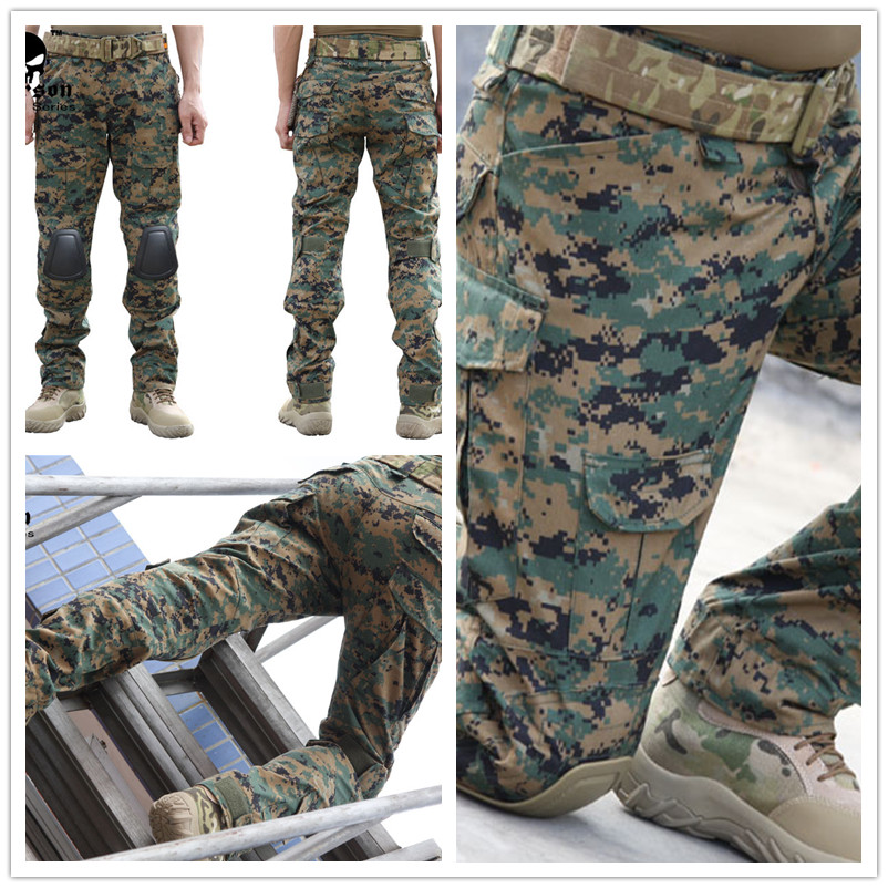 все цены на Emerson Gen2 Pants Emerson Airsoft wargame Pants with knee pads woodland marpat 6989 онлайн