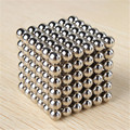 216 Unids 3mm Multi-Color Plata Cubo Mágico Bolas Magnéticas de Neodimio de Moldeo Bolas Juguetes Educativos CX885185