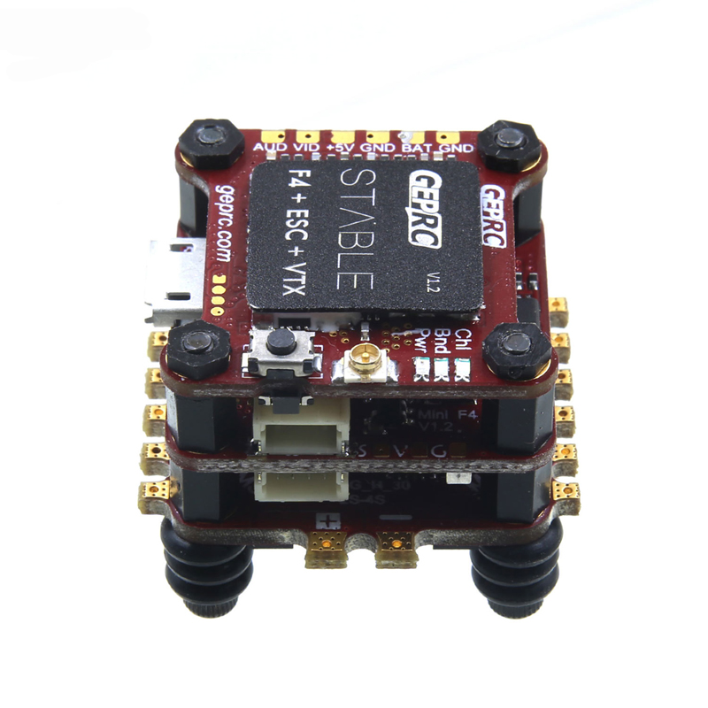 1PC Stable F4 Mini Tower Omnibus F4 Flight Controller & 4 IN 1 BLHelis 12A ESC & 48CH 2-6S VTX for FPV Quadcopter Drone RC Model emax f4 magnum tower parts f4 flight controller 6 in 1 betaflight osd mini main board for rc racing drone quadcopter