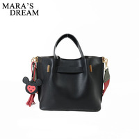 Mara S Dream 2018 Winter New Fashion Shoulder Bag For Women Solid PU Leather Party Stylish