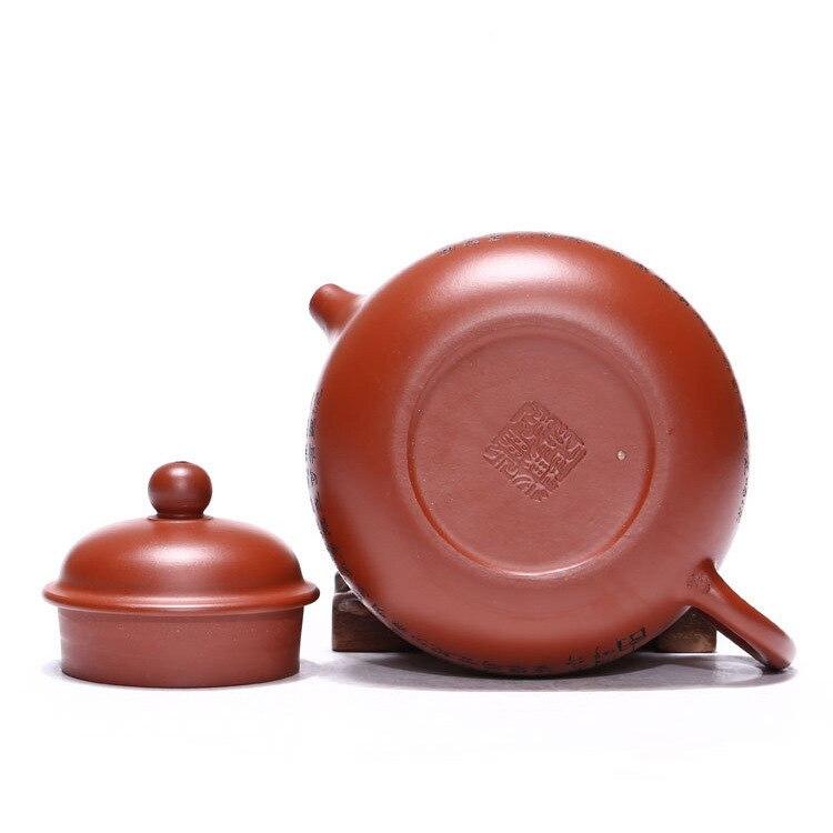 Venta al por mayor yixing recomendado puro manual desvestido mineral dhongpao corazón sutra día olla de kung fu Té juego de regalo - 5