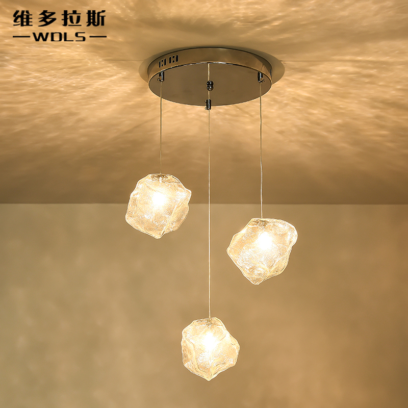 все цены на A1 Glass pendant lights body restaurant creative personality retro dining room cafe bar stairs Glass pendant lamp в интернете