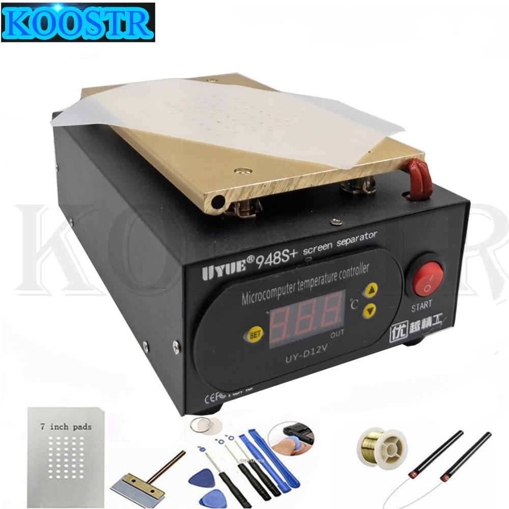 Hot Sale UYUE 948S+ LCD Separator Machine Screen Repair Machine Build-in Pump Vacuum Kit For IPhone For Samsung+Gift(China)