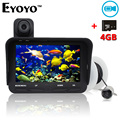 Free Shipping!Eyoyo 20m Fish Finder DVR Video Recorder 6 Infrared LED Underwater Fishing Camera+Overwater Cam+Free 4GB TF Card