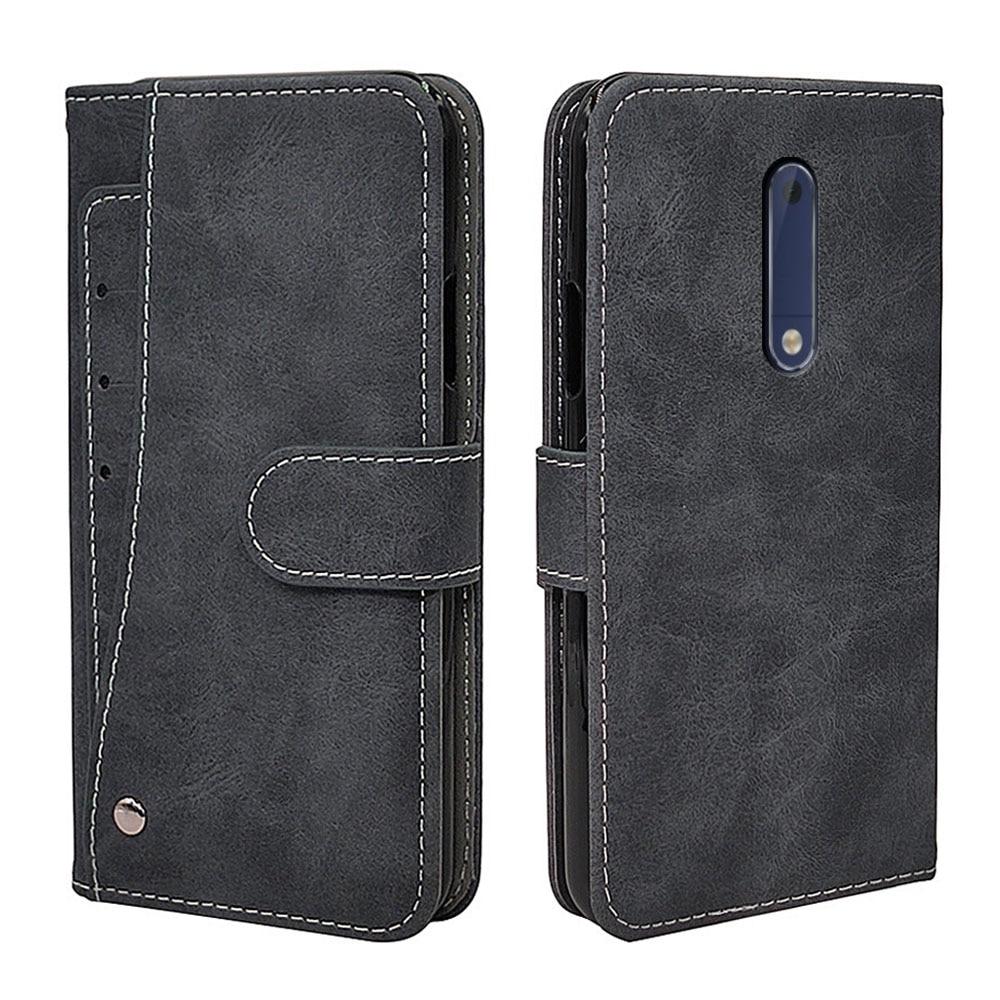 Роскошный чехол-кошелек для Nokia 1 2,4 3,4 3 5 6 7 8 2017 Plus, винтажный откидной кожаный силиконовый чехол из ТПУ, отделения для визиток