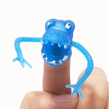 Color Random Novel Plastic Finger Puppet Story Mini Dinosaur Toys With Small Finger Toys For Kids Children High Quality image