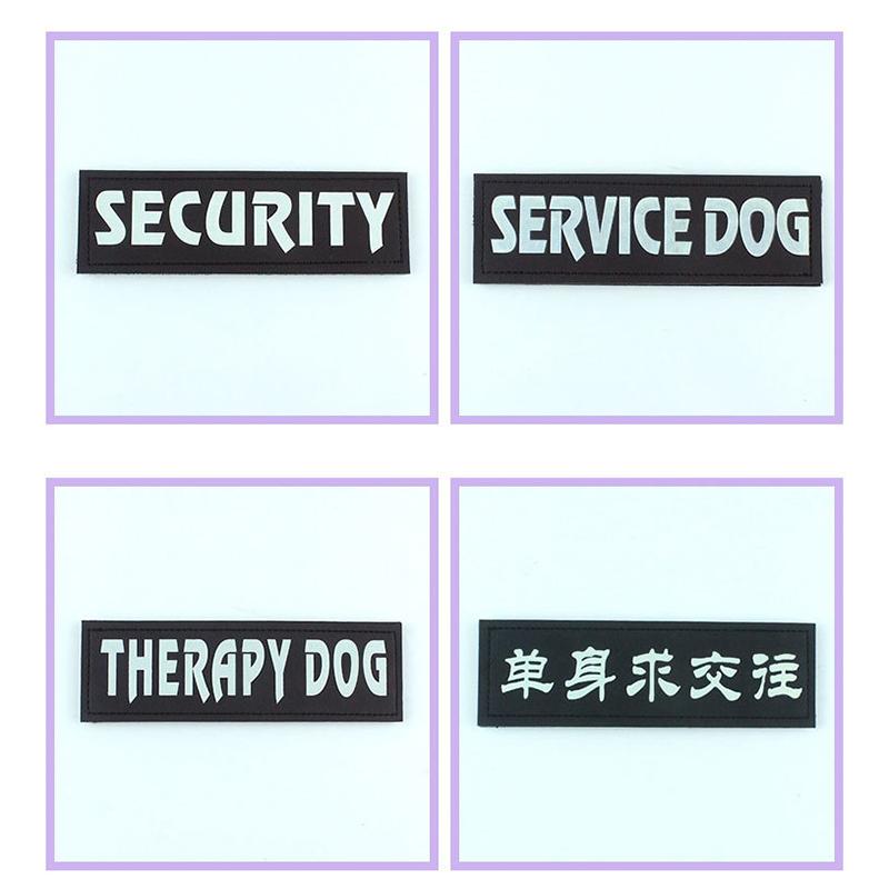 2 piezas de nombre para Perro con Velcro 4