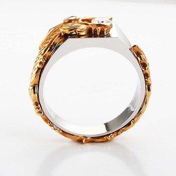 טבעת דרקון מוזהב לנישואין