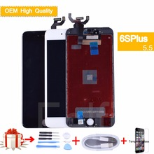 LCD For iphone 6S Plus Display A1699 A1634 A1687 LCD Display Touch Screen Digitizer Assembly Replacement WITH 3D touch original недорго, оригинальная цена