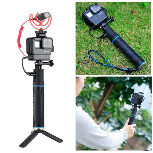 For Gopro Cage with Power Bank Hand Grip Sports Camera Case for Gopro Hero 7 6 5, gopro7 Camera Accessories Tripod Mount Support