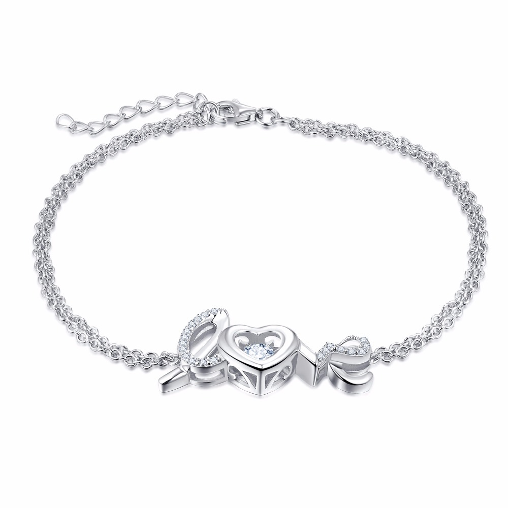 Aliexpress : Buy Yl Dancing Love Letter 925 Sterling Silver Bracelet  Charms Natural Topaz Stone Bracelets For Women Wedding Fine Jewelry From  Reliable