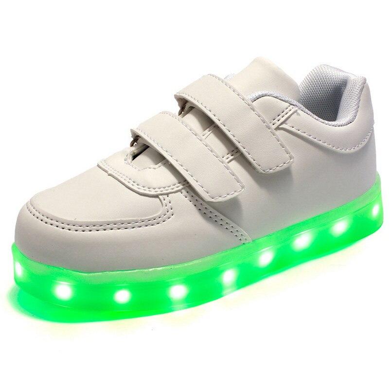 Kids High Tops Garçons Filles DEL Light Up Baskets Lumineuses Baskets sportwear Chaussures