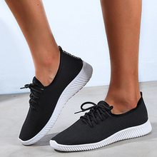 Drop shipping LOOZYKIT Autumn Women Breathable Sneakers Outdoor Running Shoes Mesh Canvas Shoes Light Bottom Casual Shoes(China)