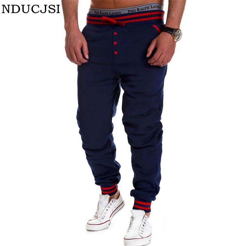 2016 Trousers Man Pantalones Men Pants Sportswear Brand Sweatpants Front Button Loose Drop Crotch Pants Drawstring Out Door B008