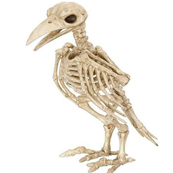 Halloween Skeleton Horror Crazy Bone Crow Skeleton Raven Anaimal Skeleton horror Halloween Prop Bird's Crow Skull Decoration 1