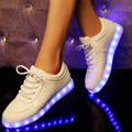 Colorful chaussure lumineuse with lights up led luminous shoes simulation sole led shoes for adults neon basket led