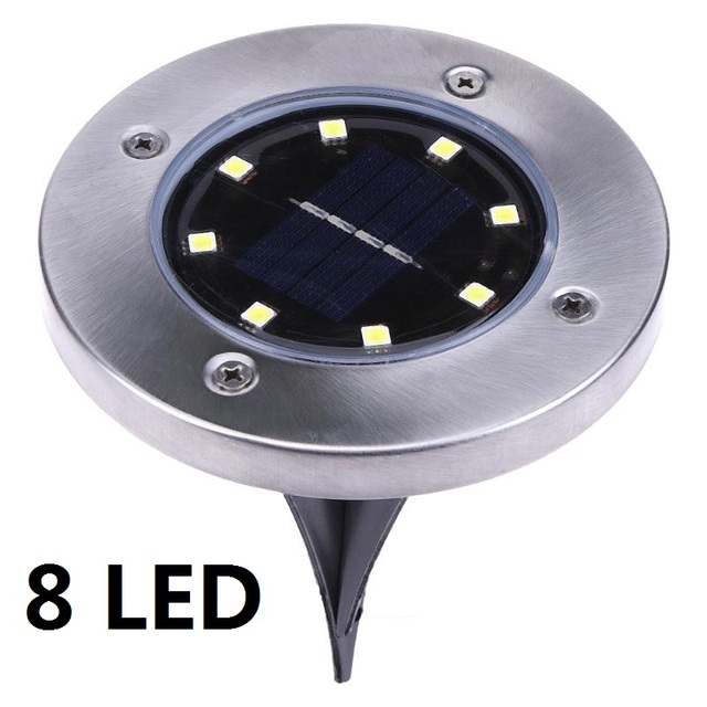 Led Solar Light 4/8LEDS Garden Ground Lights Outdoor Waterproof Underground Buried Lamp Lawn Yard Stair Decoration Lamps