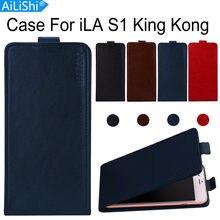 AiLiShi Için iLA S1 Kral Kong Lüks Yukarı Ve Aşağı Çevirme S1 King Kong iLA Deri Kılıf Özel 100% telefon Kapak Cilt + Takip